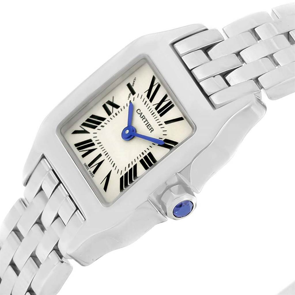 13177 Cartier Santos Demoiselle Stainless Steel Small Ladies Watch W25064Z5  SwissWatchExpo