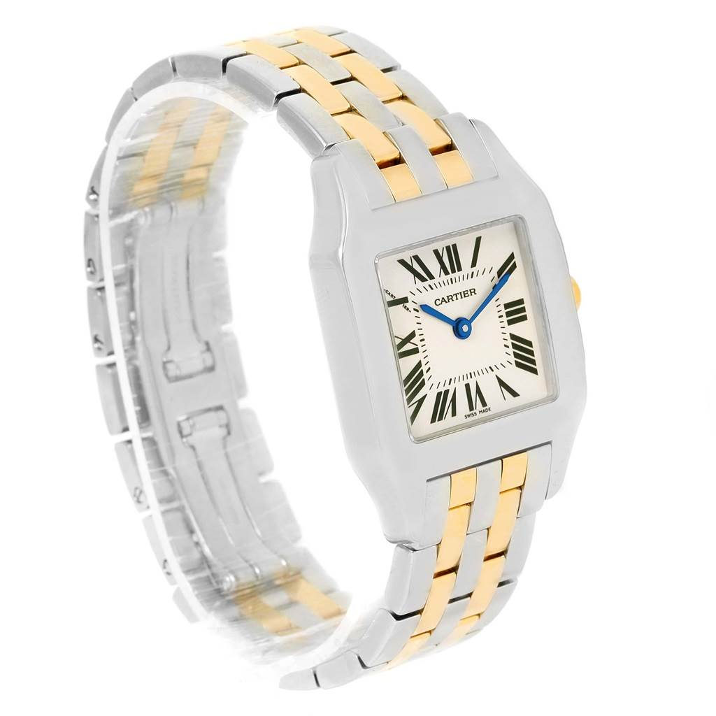 13690 Cartier Santos Demoiselle Steel 18K Yellow Gold Midsize Watch W25067Z6 SwissWatchExpo