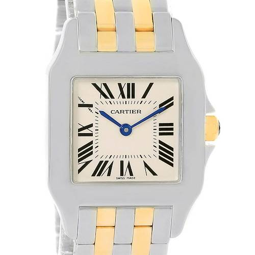 Photo of Cartier Santos Demoiselle Steel 18K Yellow Gold Midsize Watch W25067Z6