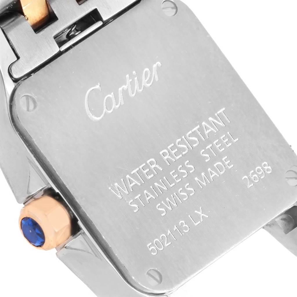 13866 Cartier Santos Demoiselle Steel 18K Rose Gold Ladies Watch W25074Y9 SwissWatchExpo