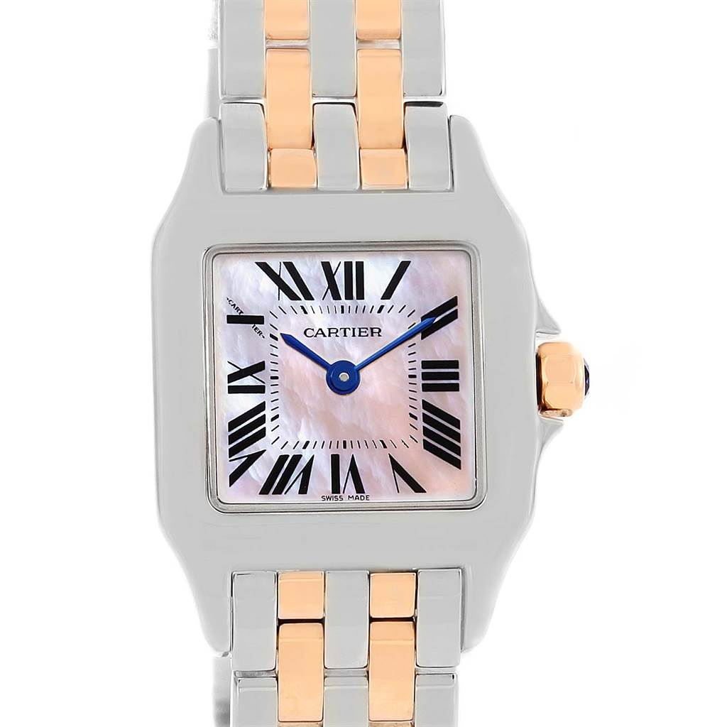 13866 Cartier Santos Demoiselle Steel 18K Rose Gold Ladies Watch W25074Y9 SwissWatchExpo
