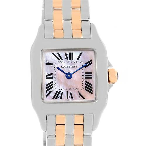 Photo of Cartier Santos Demoiselle Steel 18K Rose Gold Ladies Watch W25074Y9