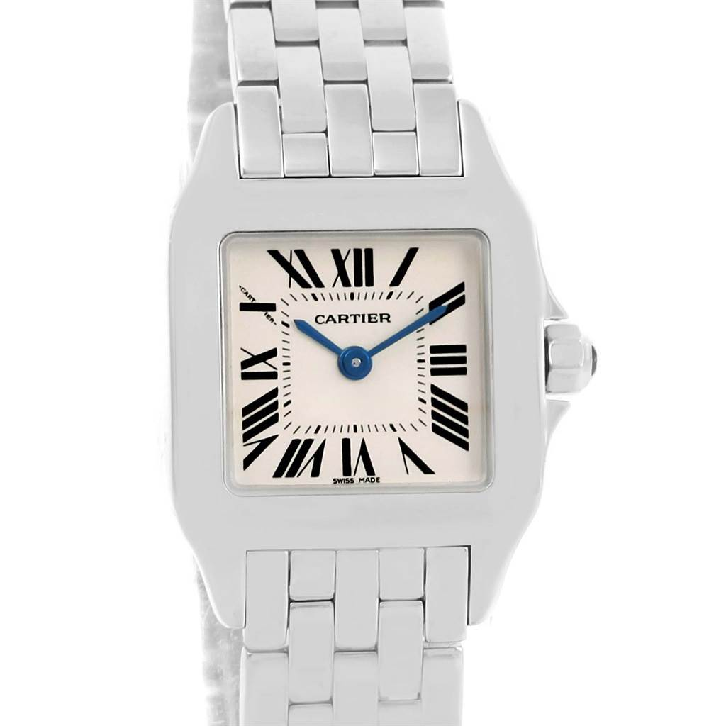 14189 Cartier Santos Demoiselle Stainless Steel Ladies Watch W25064Z5 SwissWatchExpo
