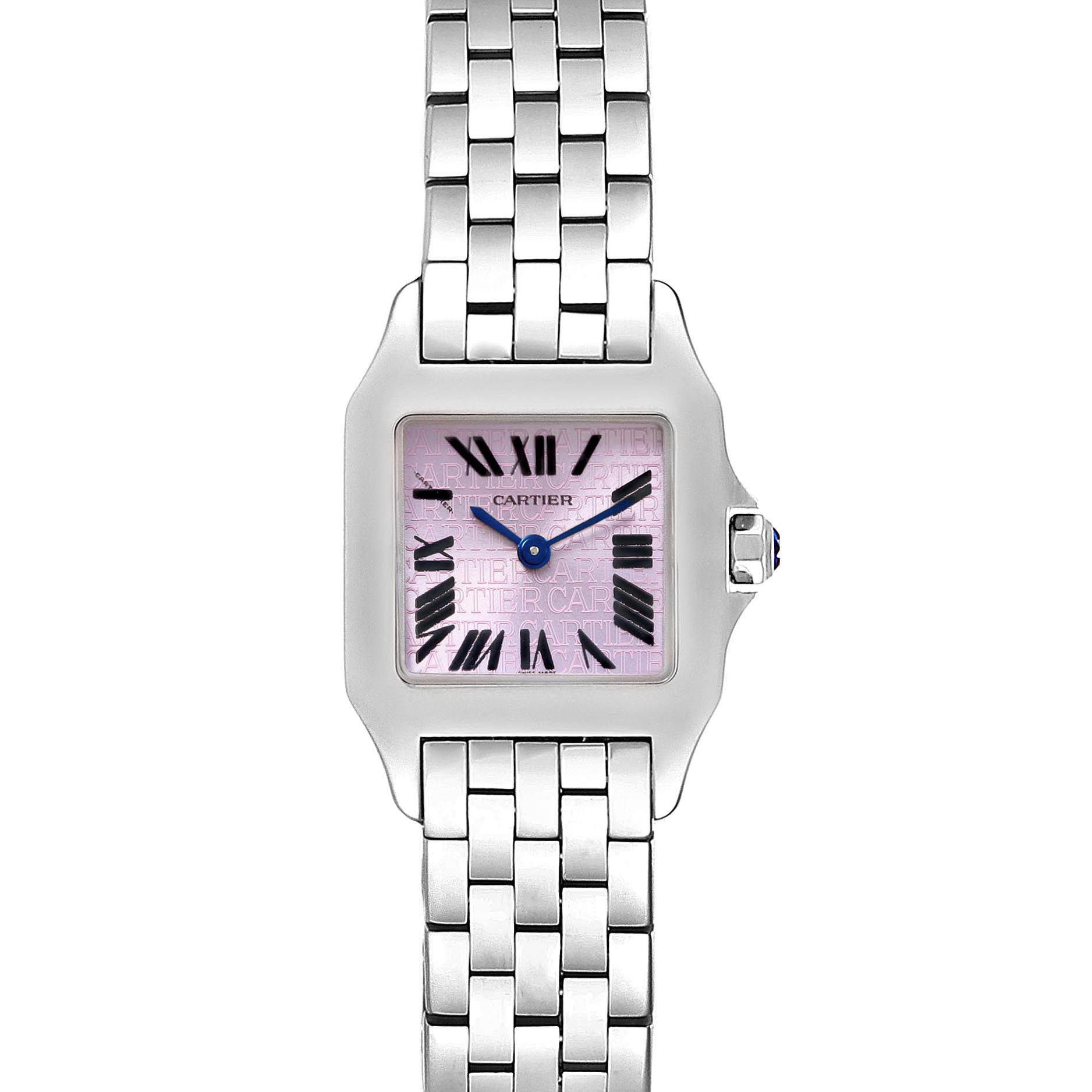 Cartier Santos Demoiselle Purple Lacquered Dial Ladies Watch W2510002