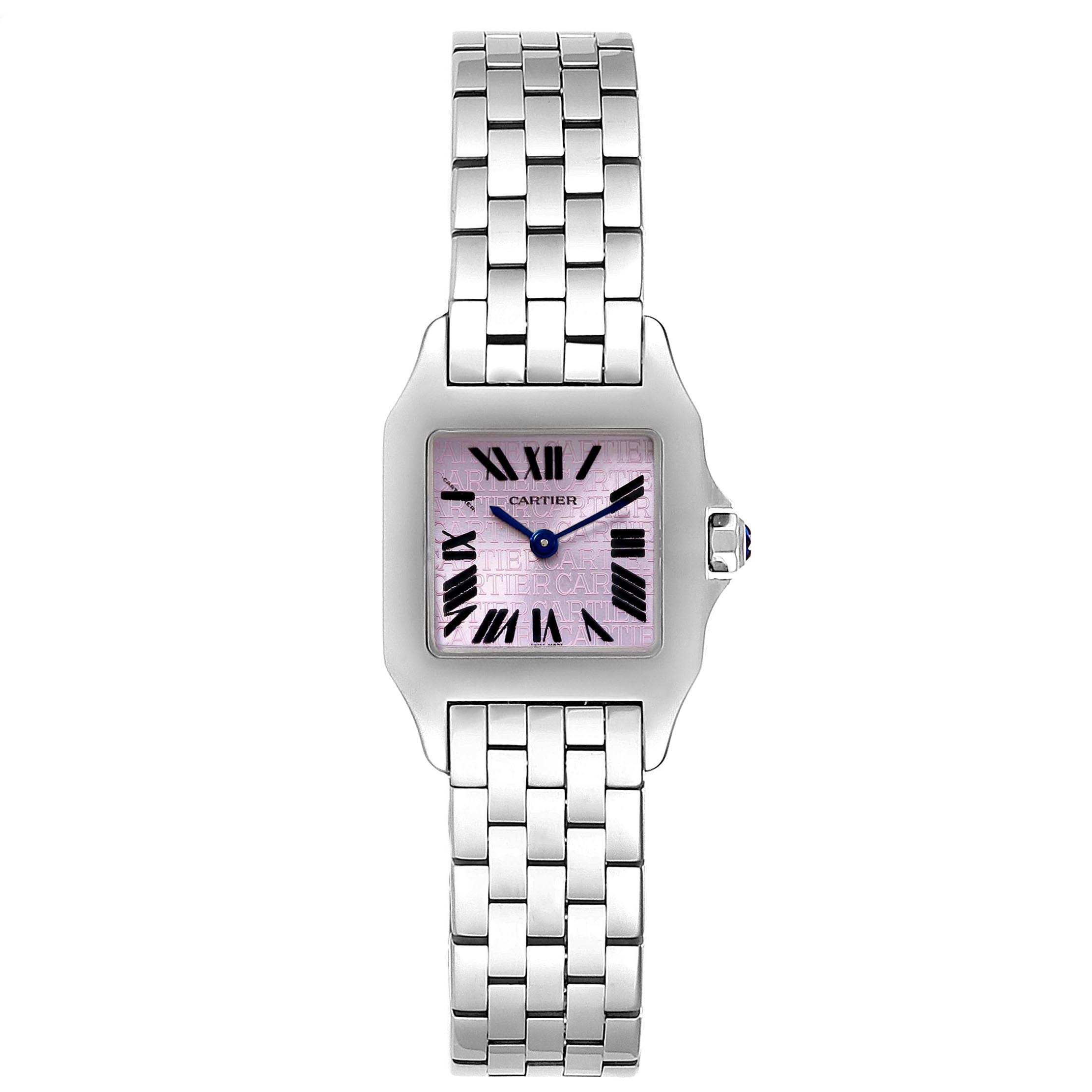 Cartier Santos Demoiselle Purple Lacquered Dial Ladies Watch W2510002 SwissWatchExpo