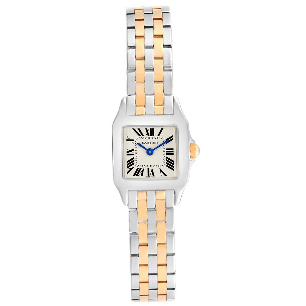 13966 Cartier Santos Demoiselle Steel Yellow Gold Ladies Watch W25066Z6 SwissWatchExpo