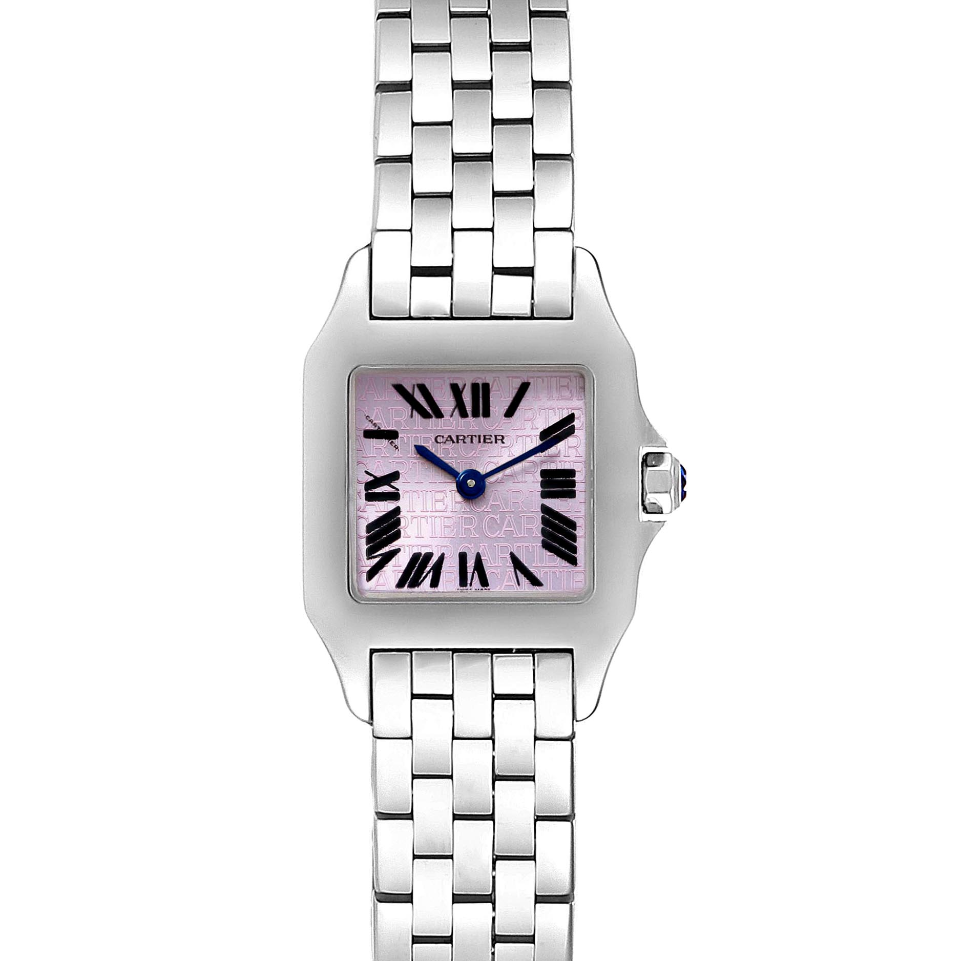Cartier Santos Demoiselle Purple Dial Small Ladies Watch W2510002 SwissWatchExpo