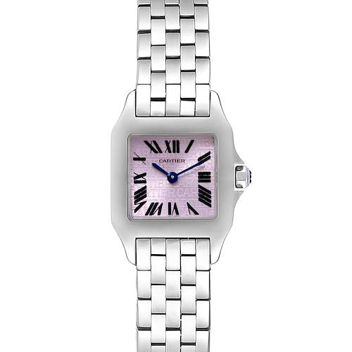 Photo of Cartier Santos Demoiselle Purple Dial Small Ladies Watch W2510002