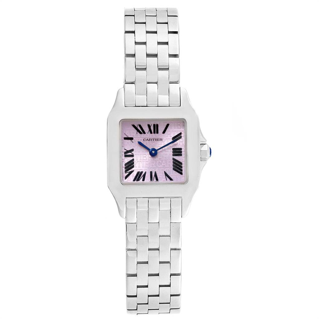 15004 Cartier Santos Demoiselle Purple Dial Small Ladies Watch W2510002 SwissWatchExpo