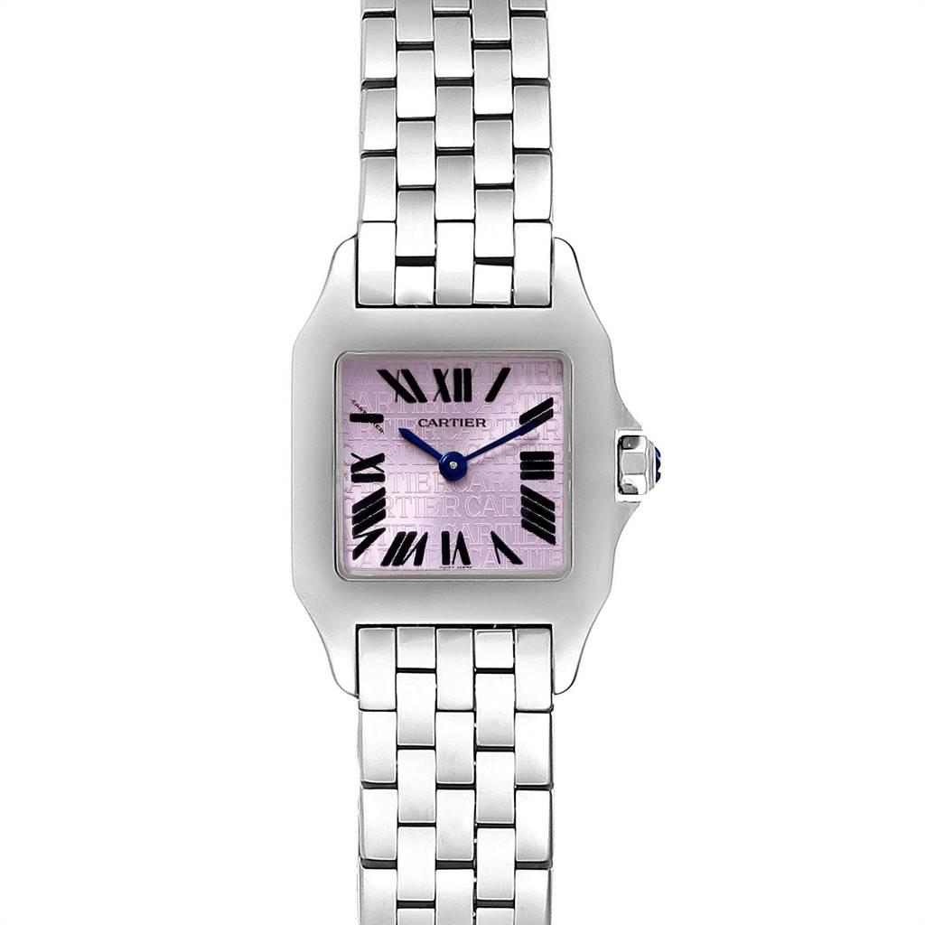 Cartier Santos Demoiselle Purple Dial Small Ladies Watch W2510002 SwissWatchExpo