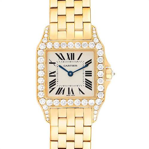 Photo of Cartier Santos Demoiselle Yellow Gold Diamond Midsize Ladies Watch WF9002Y7