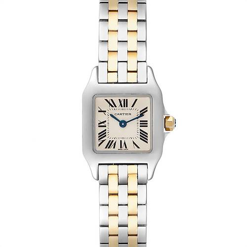 Photo of Cartier Santos Demoiselle Steel Yellow Gold Ladies Watch W25066Z6