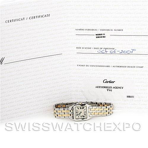 2974 Cartier Santos Demoiselle Steel & Yellow Gold W25066Z6 SwissWatchExpo