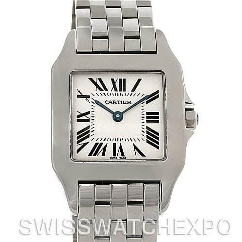 4202 Cartier Santos Demoiselle Steel Midsize Watch W25065Z5 SwissWatchExpo