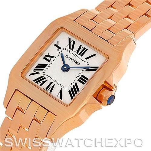 4630 Cartier Santos Demoiselle 18K Rose Gold Ladies Watch W25077X9 SwissWatchExpo