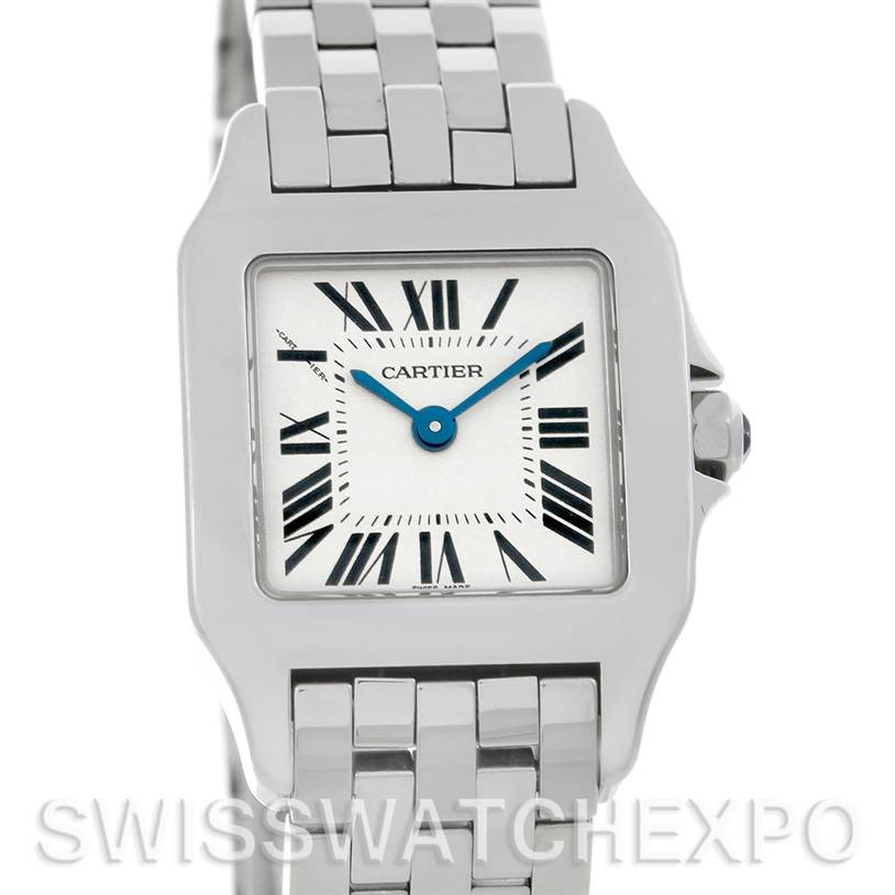4763 Cartier Santos Demoiselle Steel Ladies Watch W25064Z5 SwissWatchExpo