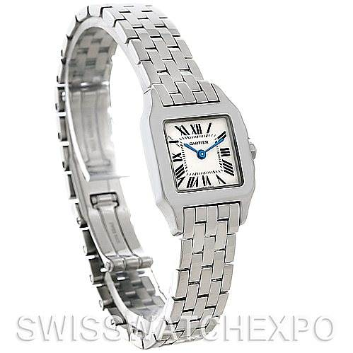 5240 Cartier Santos Demoiselle Steel Ladies Watch W25064Z5 SwissWatchExpo