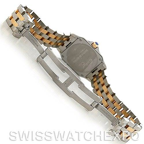 5252 Cartier Santos Demoiselle Steel Yellow Gold Watch W25066Z6 SwissWatchExpo