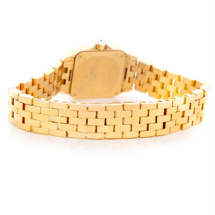 5595P Cartier Santos Demoiselle 18K Yellow Gold Diamond Ladies Watch WF9001Y7 SwissWatchExpo