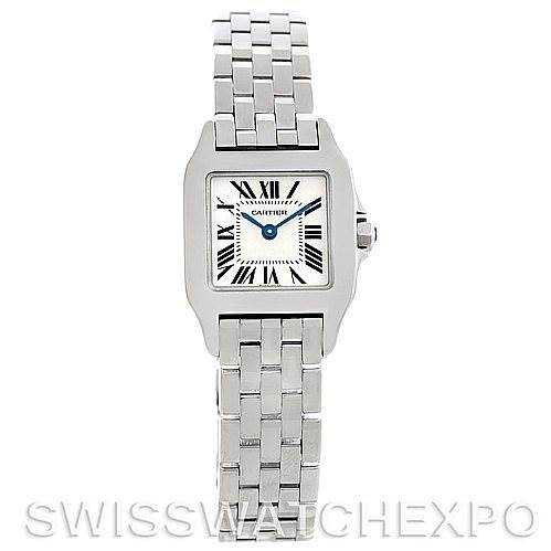 5226 Cartier Santos Demoiselle Steel Ladies Watch W25064Z5 SwissWatchExpo