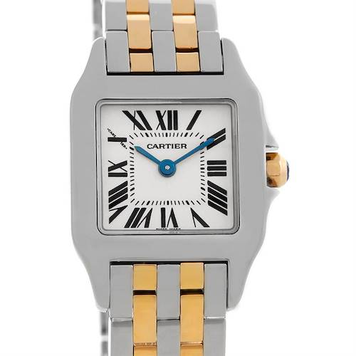 Photo of Cartier Santos Demoiselle Steel Yellow Gold Watch W25066Z6