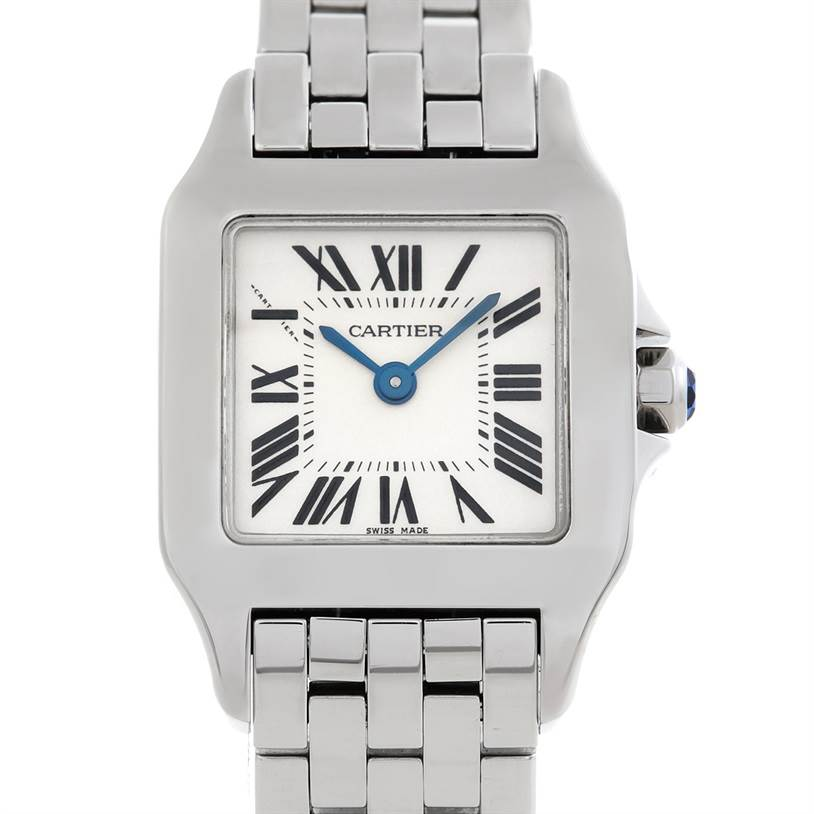 5810 Cartier Santos Demoiselle Steel Ladies Watch W25064Z5 SwissWatchExpo
