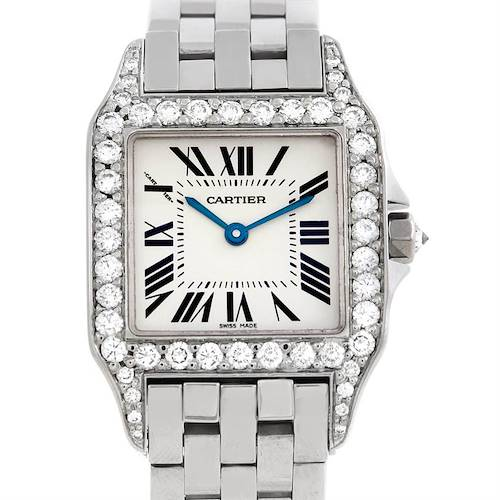 Photo of Cartier Santos Demoiselle Steel Diamond Midsize Watch W25065Z5