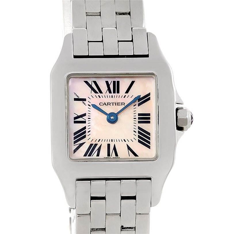 6362 Cartier Santos Demoiselle Steel Ladies Watch W25075Z5 SwissWatchExpo