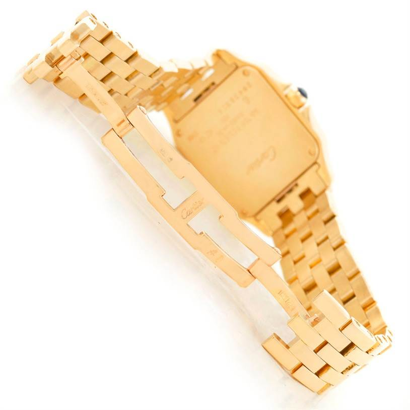 6220 Cartier Santos Demoiselle Midsize 18K Yellow Gold Watch W25062X9 SwissWatchExpo