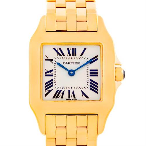 Photo of Cartier Santos Demoiselle Midsize 18K Yellow Gold Watch W25062X9