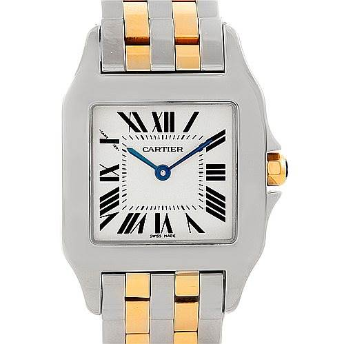 7270 Cartier Santos Demoiselle Steel 18K Yellow Gold Midsize Watch W25067Z6 SwissWatchExpo