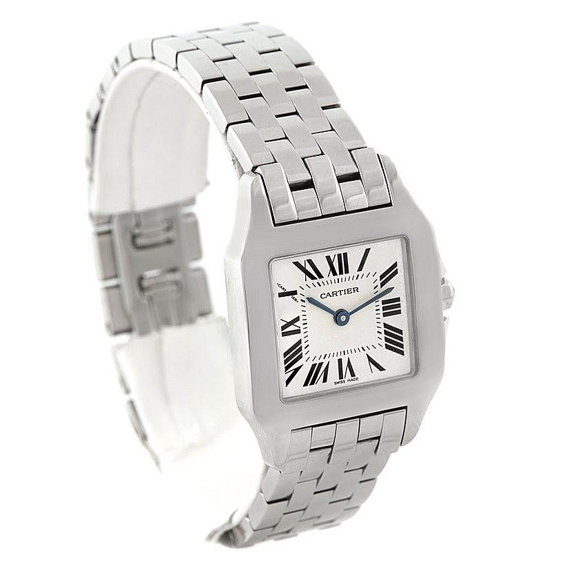 7275 Cartier Santos Demoiselle Steel Midsize Watch W25065Z5 SwissWatchExpo