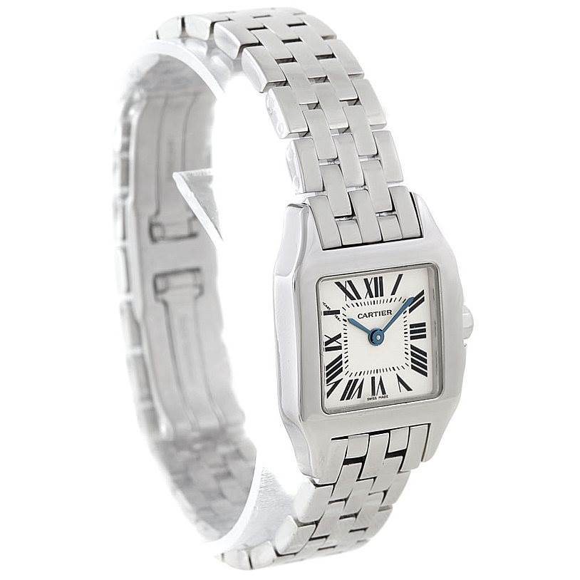 7021 Cartier Santos Demoiselle Steel Ladies Watch W25064Z5 SwissWatchExpo