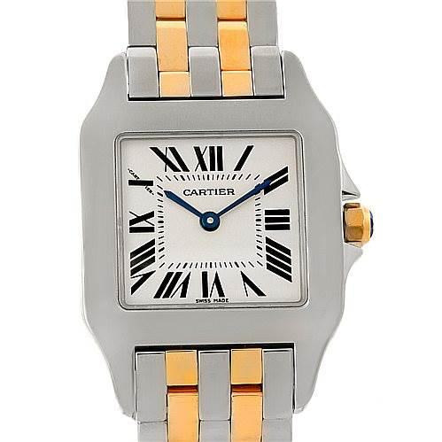 7881 Cartier Santos Demoiselle Steel 18K Yellow Gold Midsize Watch W25067Z6  SwissWatchExpo