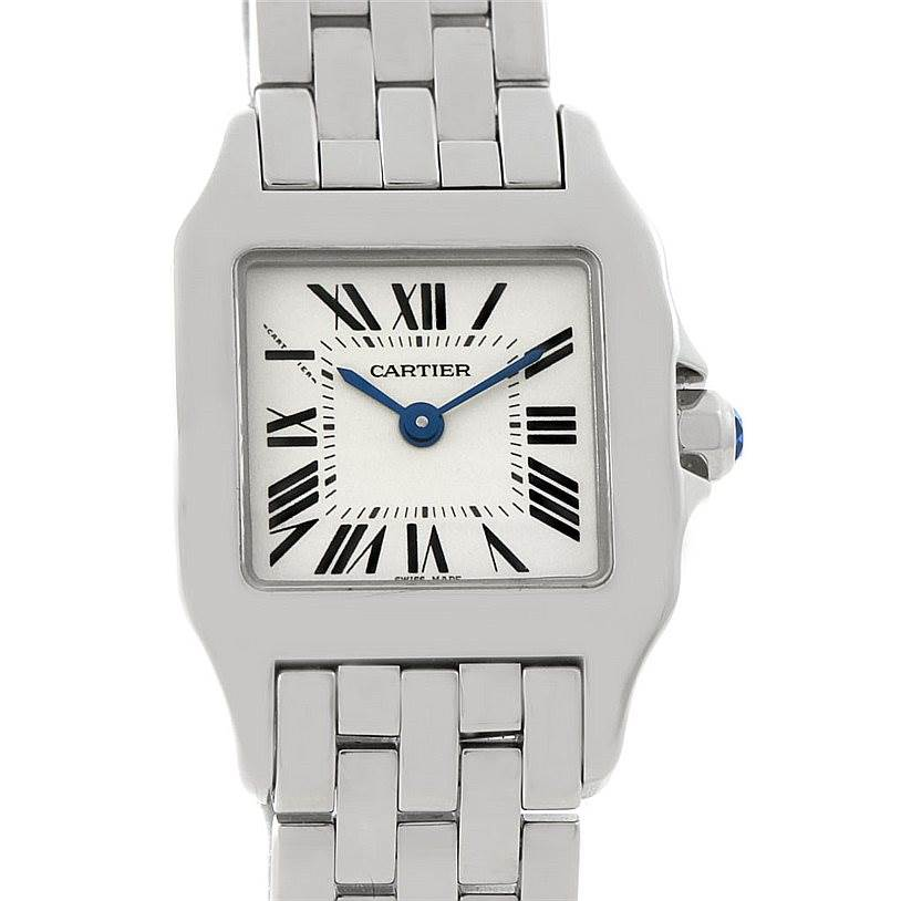 8047 Cartier Santos Demoiselle Steel Ladies Watch W25064Z5 SwissWatchExpo