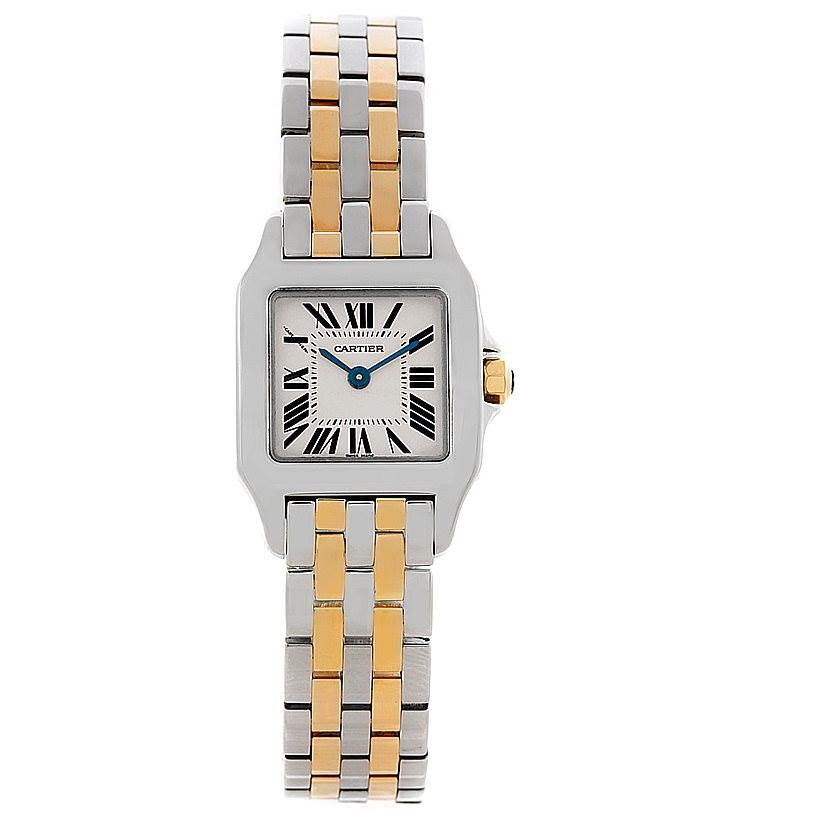 8443 Cartier Santos Demoiselle Ladies Steel Yellow Gold Watch W25066Z6 SwissWatchExpo