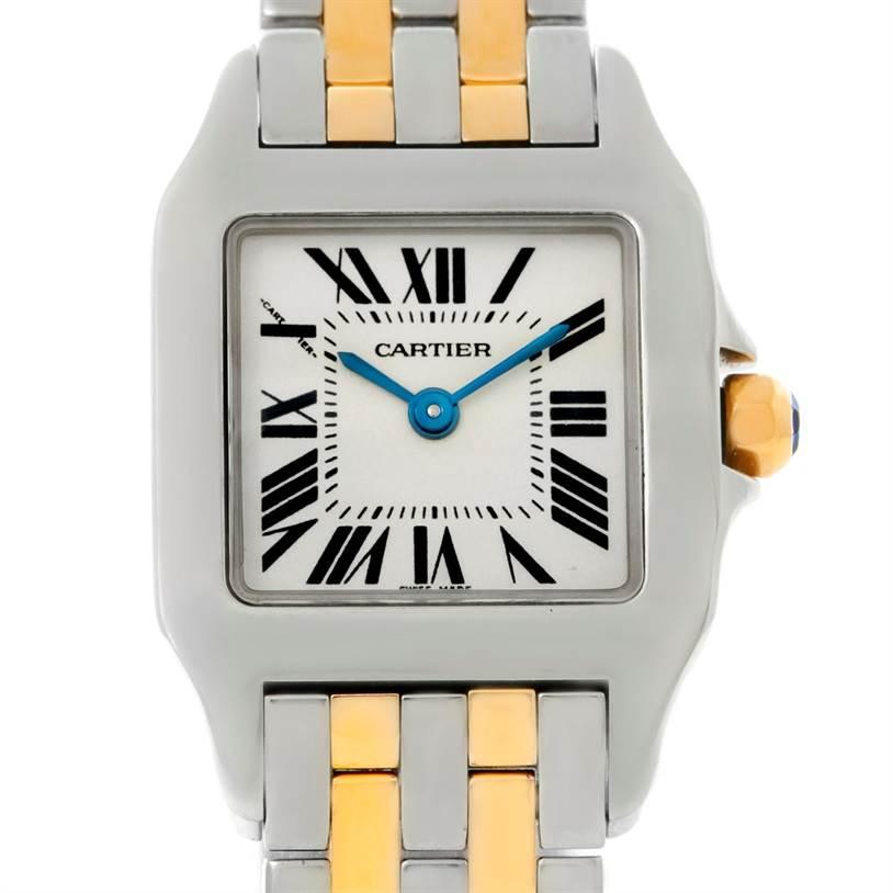 8649 Cartier Santos Demoiselle Steel Yellow Gold Watch W25066Z6 SwissWatchExpo