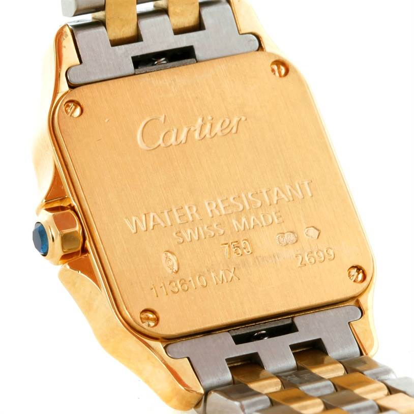 9320 Cartier Santos Demoiselle Steel Yellow Gold Watch W25063Z6 SwissWatchExpo
