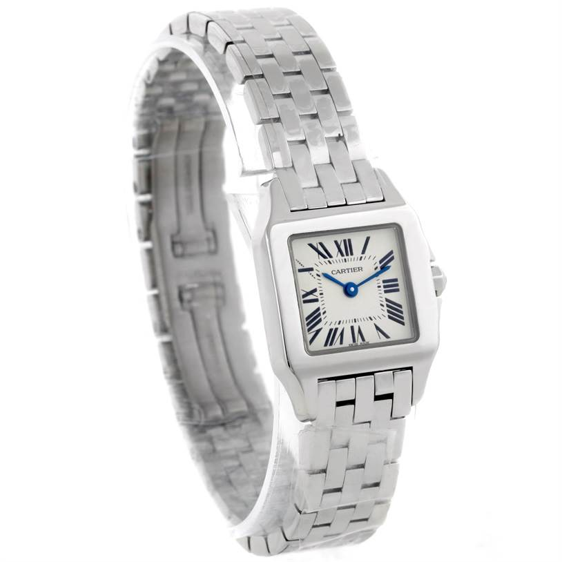 9322 Cartier Santos Demoiselle Stainless Steel Ladies Watch W25064Z5 Unworn SwissWatchExpo