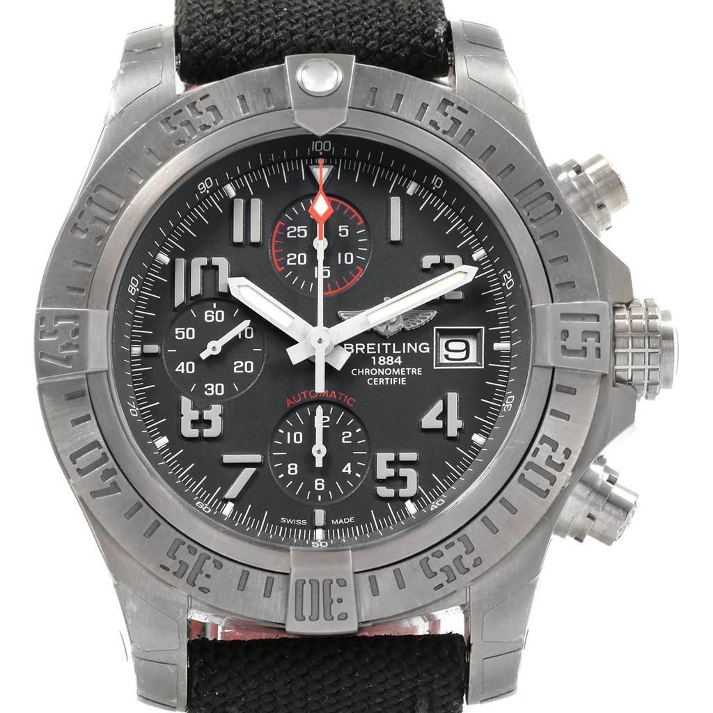 18742 Breitling Avenger Bandit Grey Dial Chronograph Titanium Watch E13383 SwissWatchExpo