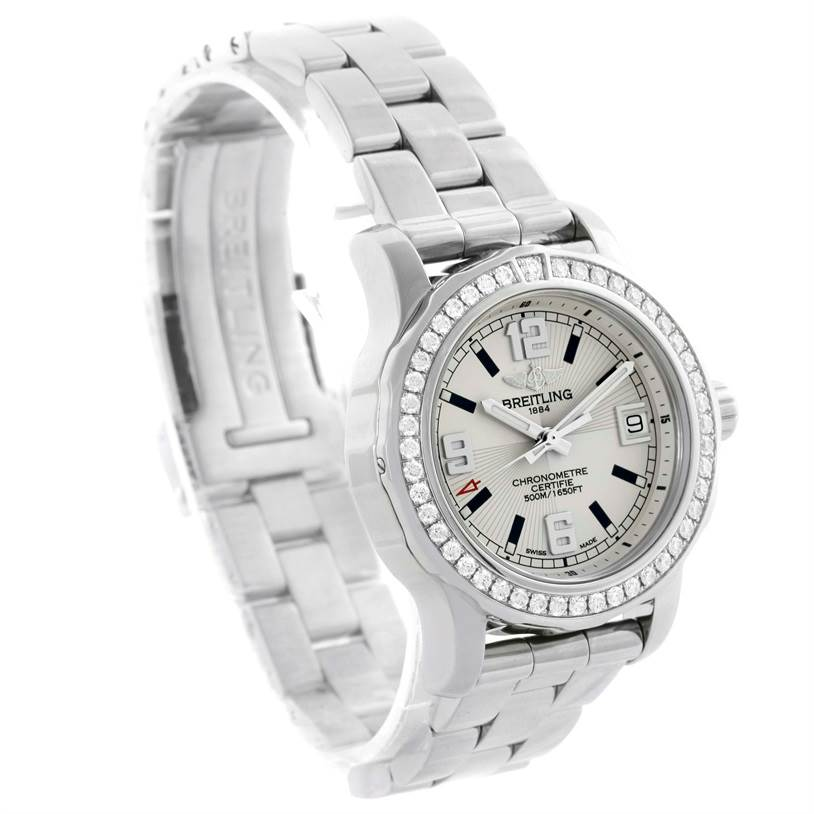 Breitling Colt 33 Stainless Steel Diamond Ladies Watch A77387 SwissWatchExpo