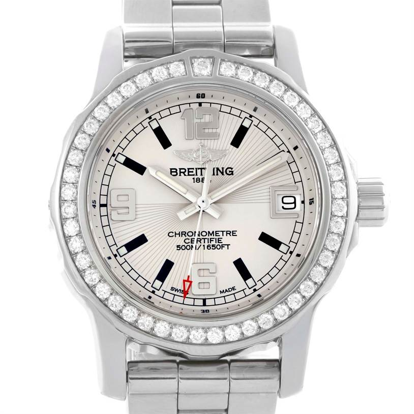 10320 Breitling Colt 33 Stainless Steel Diamond Ladies Watch A77387 SwissWatchExpo