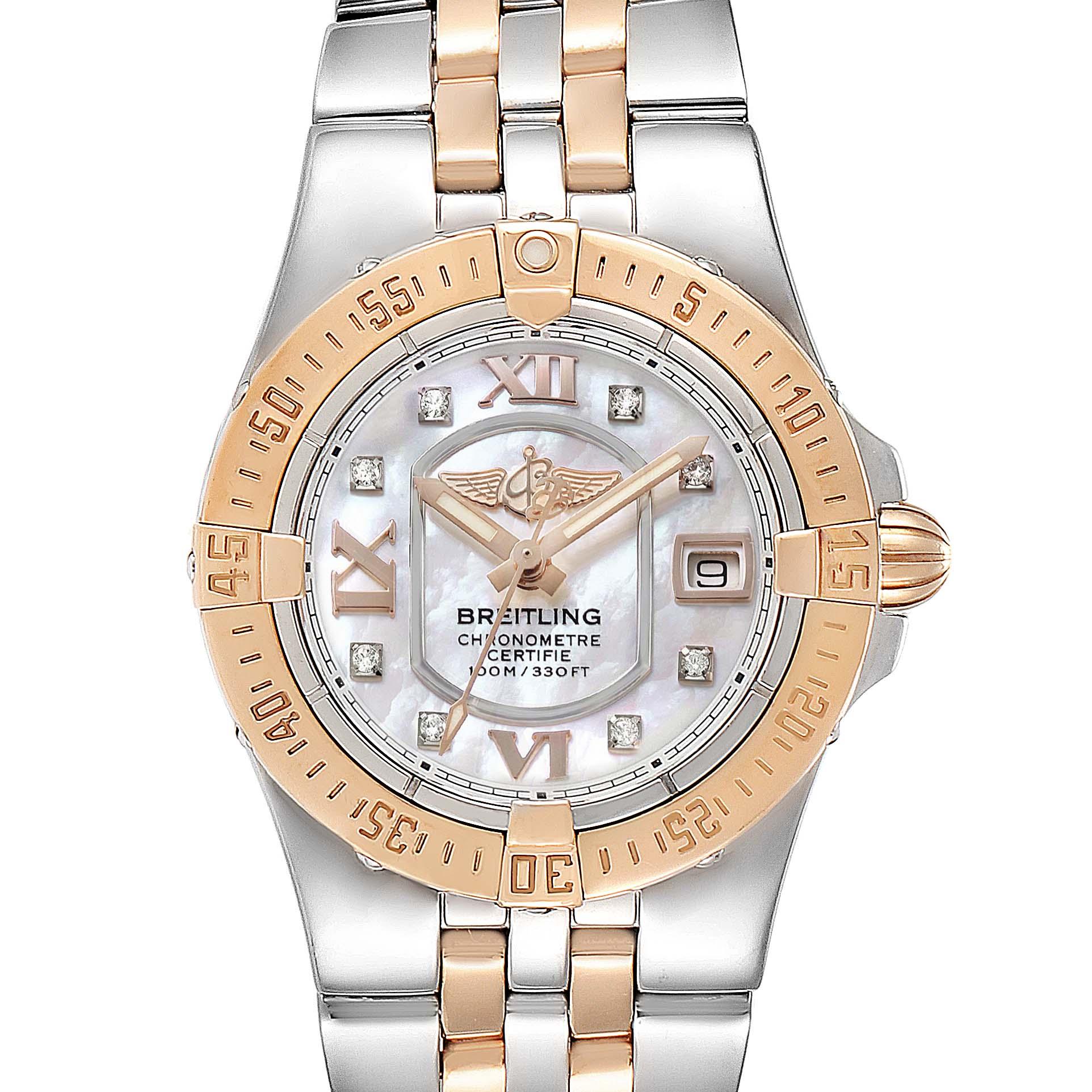 Photo of Breitling Galactic 30 Steel Rose Gold Diamond Ladies Watch C71340