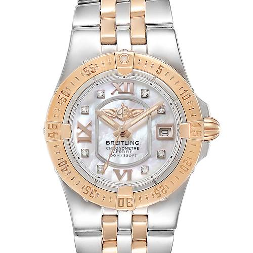 Breitling Galactic 30 Steel Rose Gold Diamond Ladies Watch C71340