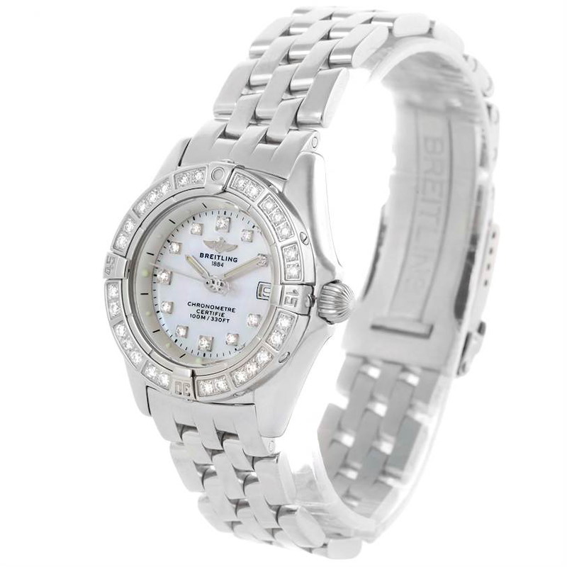 Breitling Callisto Ladies Mother of Pearl Diamond Watch A72345 SwissWatchExpo