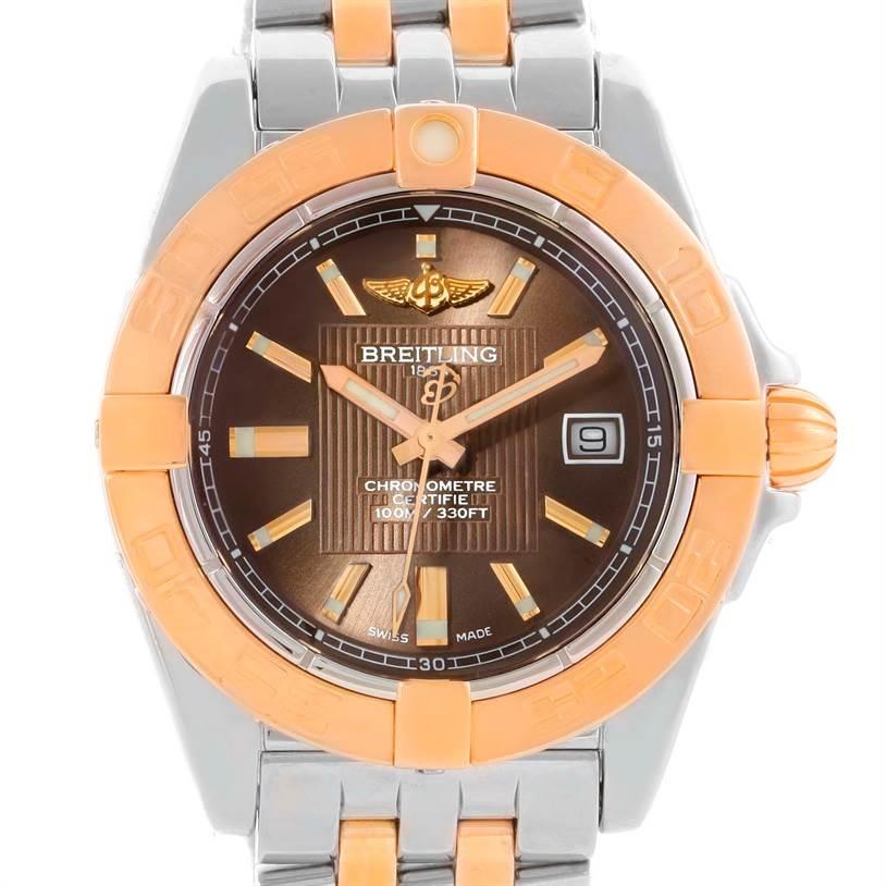 Photo of Breitling Galactic 32 Ladies Steel Gold Watch C71356L2/Q581-367C