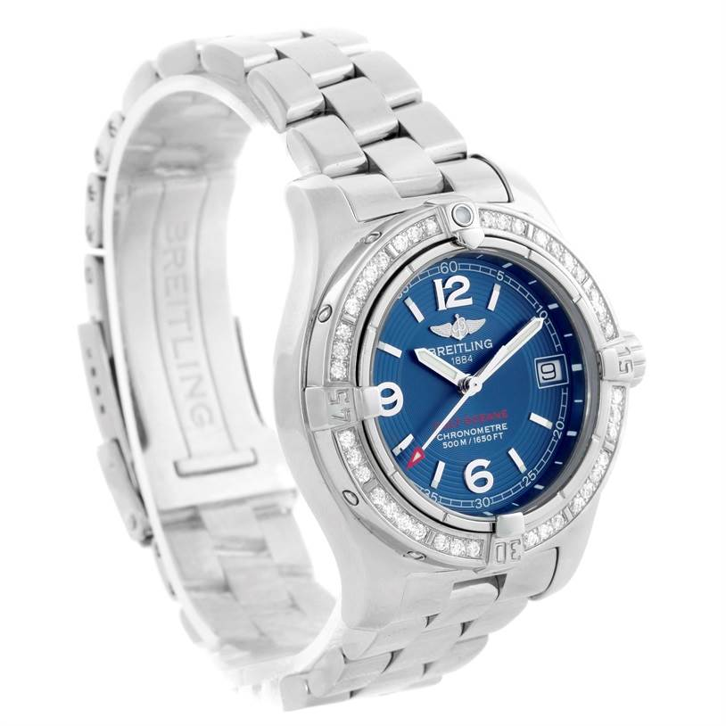 10939 Breitling Colt Oceane Stainless Steel Diamond Ladies Watch A77380 SwissWatchExpo