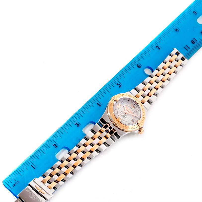 11477 Breitling Galactic 30 Ladies Steel 18K Rose Gold Diamond Watch C71340 SwissWatchExpo