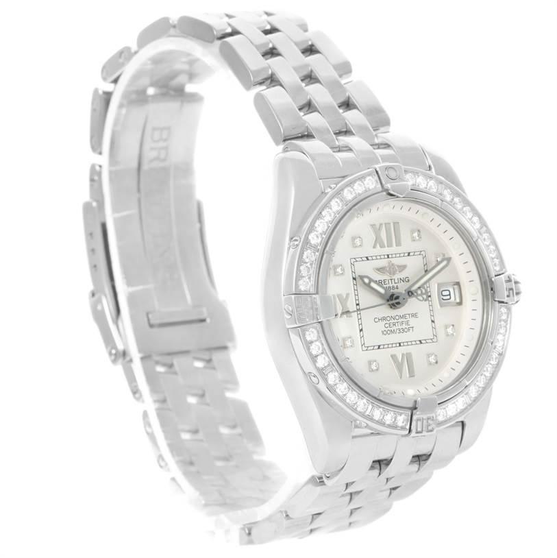 Breitling Cockpit Diamond Dial Bezel Womens Watch A71356 Box papers SwissWatchExpo