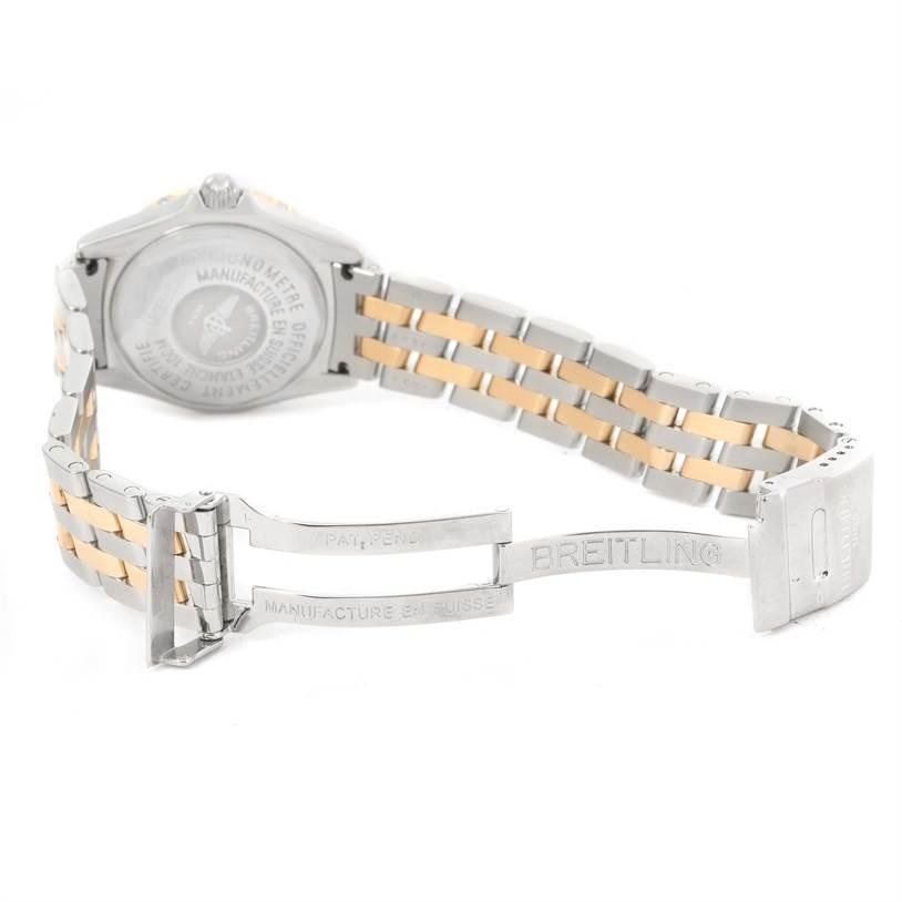 Breitling Windrider Calisto Steel 18K Yellow Gold Diamond Watch D72345 SwissWatchExpo